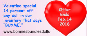 Valentine Special - 14% Any Doll In Our Inventory That Says BUYME
