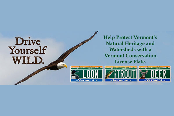 Help Protect Vermont's Natural Heritage and Watersheds with a Vermont Conservation License Plate